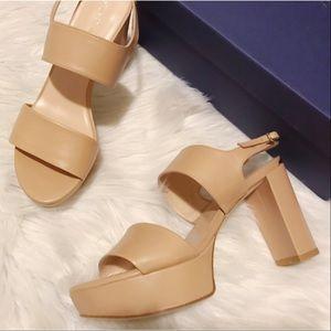 Stuart Weitzman Nude Sandals 🎀
